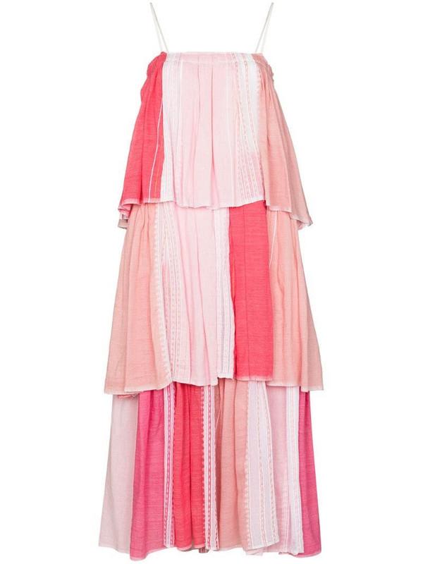 lemlem Eshal tiered maxi dress in pink