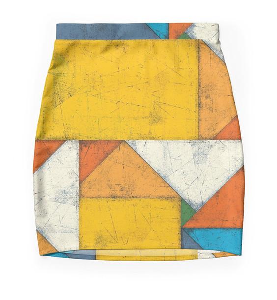 skirt geometric mini skirt abstract