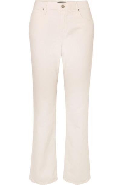 RtA - Bonnie Corduroy-trimmed Mid-rise Straight-leg Jeans - White