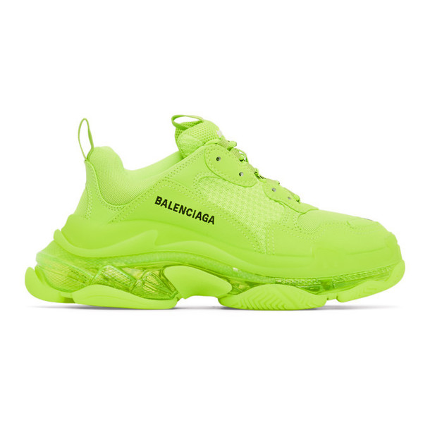 Balenciaga Yellow Triple S Sneakers