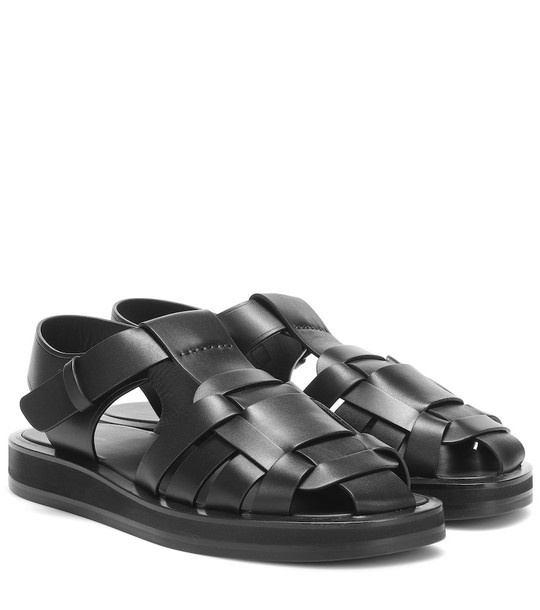 The Row Gaia 2 leather sandals in black