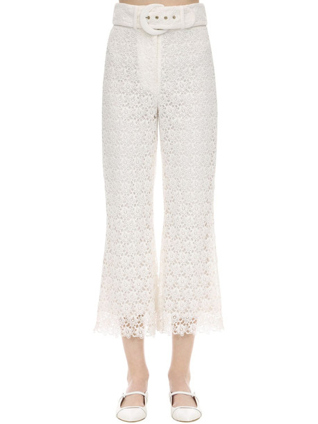 ZIMMERMANN Long Macramé Pants in white