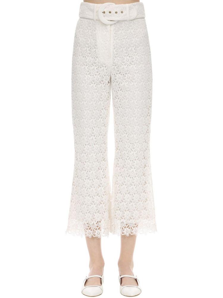 ZIMMERMANN Long Macramé Pants in white