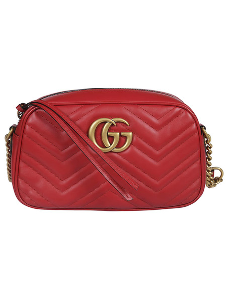 Gucci Gucci Gg Marmont Shoulder Bag in red