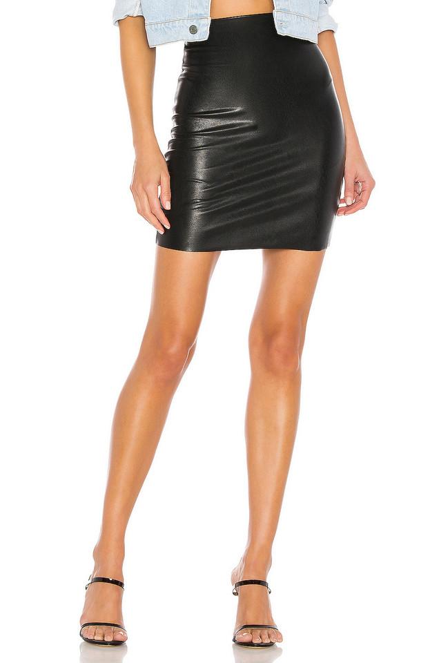 Commando Faux Leather Mini Skirt in black