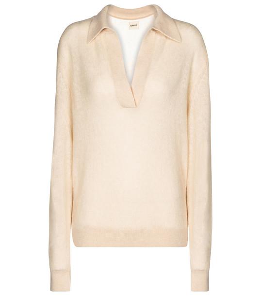 Khaite Jo stretch-cashmere sweater in white