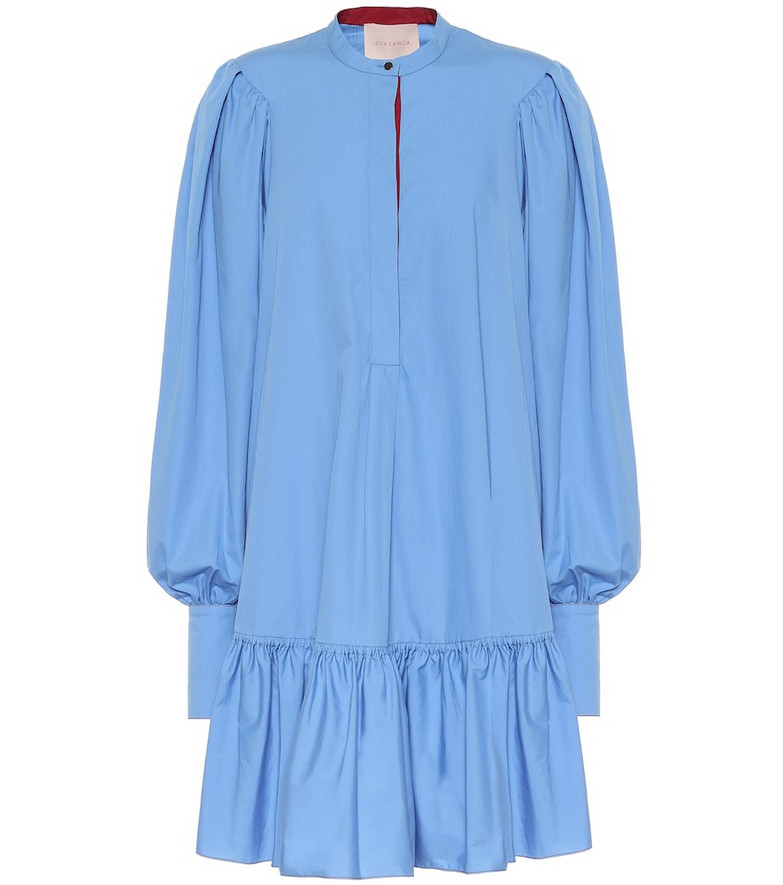 Roksanda Deva cotton minidress in blue