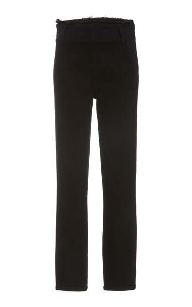 Nobody Denim Moda Stretch High-Rise Skinny Jeans in black