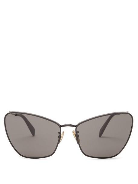 Celine Eyewear - Butterfly Metal Sunglasses - Womens - Black