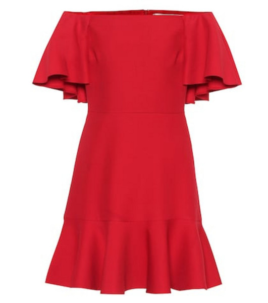 Valentino Wool and silk minidress in red