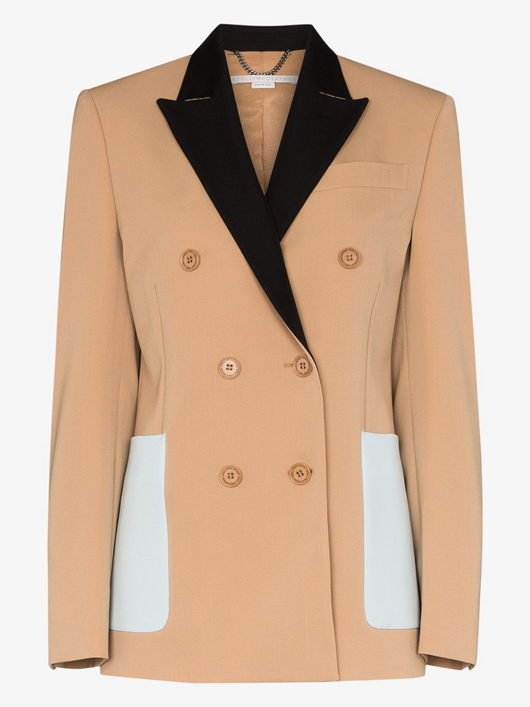 Stella McCartney button-front blazer in neutrals