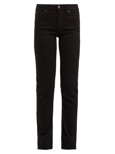 M.i.h Jeans - Daily High Rise Straight Leg Jeans - Womens - Black