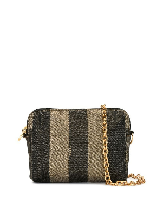 Fendi Pre-Owned Pequin pattern crossbody bag in black