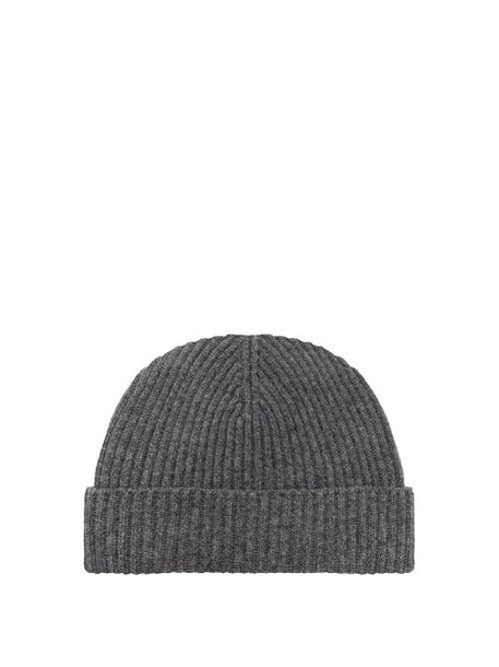 Johnston's Of Elgin - Ribbed Cashmere Beanie - Womens - Charcoal