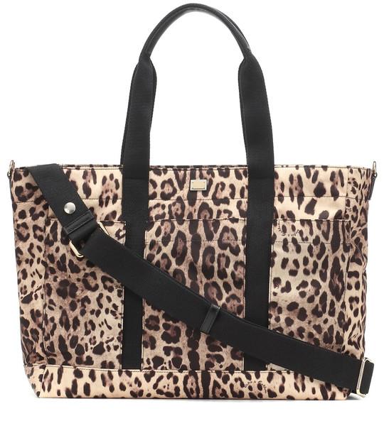 Dolce & Gabbana Kids Leopard-print changing bag in beige