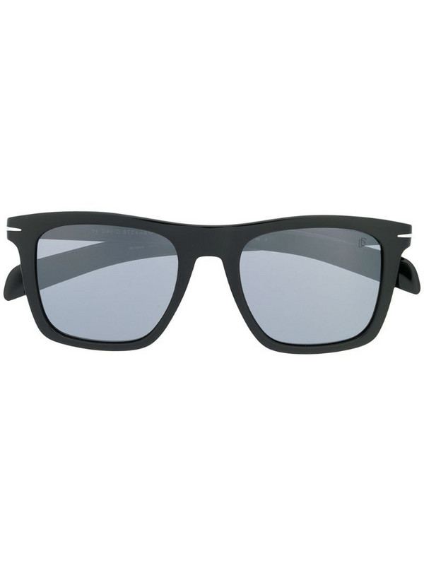 Eyewear by David Beckham rectangular frame sunglasses in black