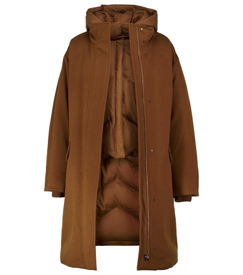 Loro Piana Blendar Cash Storm cashmere coat in brown