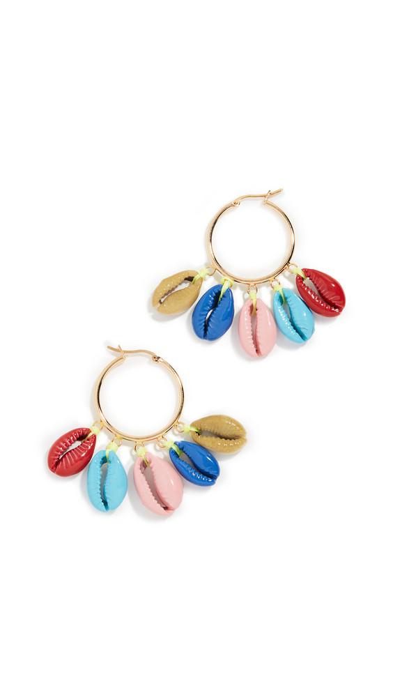 Venessa Arizaga Rainbow Shell Earrings in multi
