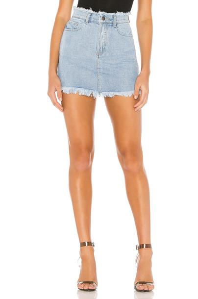 superdown Karen Denim Mini Skirt in blue