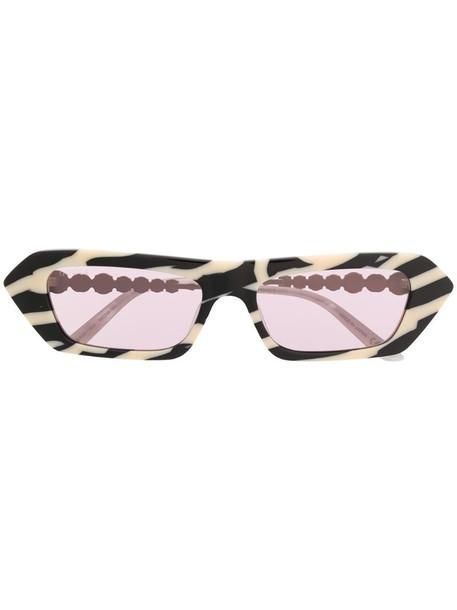 Gucci Eyewear rectangular-frame crystal-embellished sunglasses in black