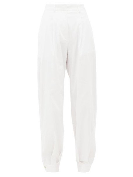 Àcheval Pampa Àcheval Pampa - Al Boleo Cotton-blend Wide-leg Trousers - Womens - White