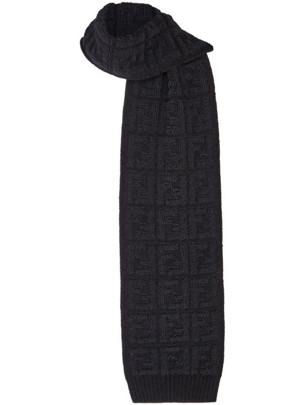 Fendi FF textured scarf in black