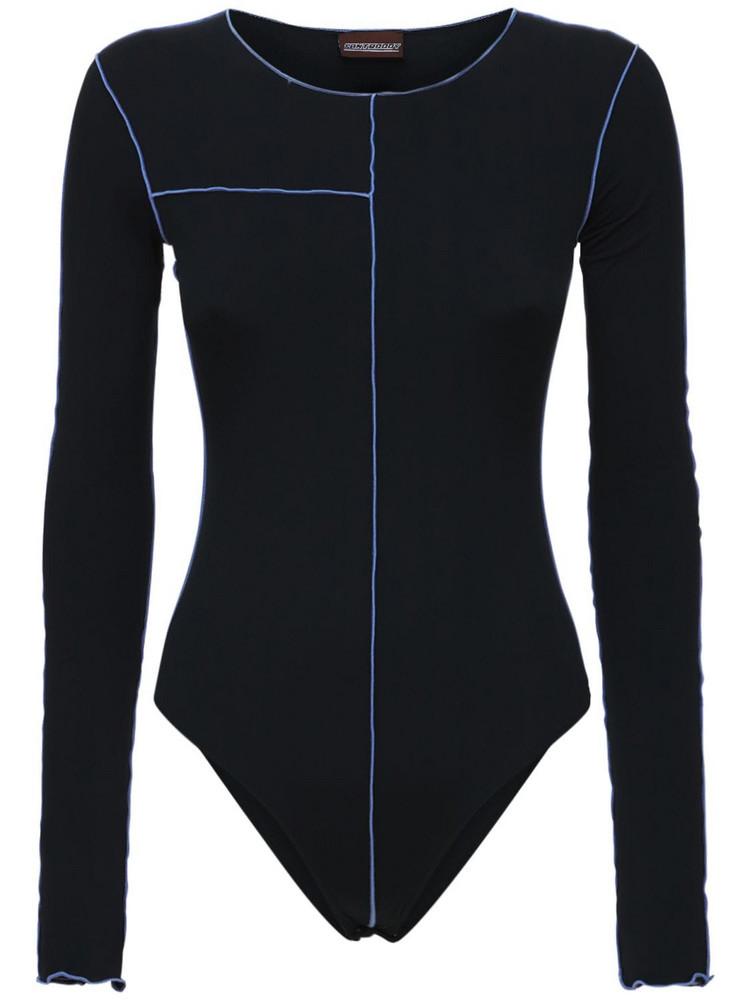 FANTABODY Barbara Recycled Jersey Bodysuit in black