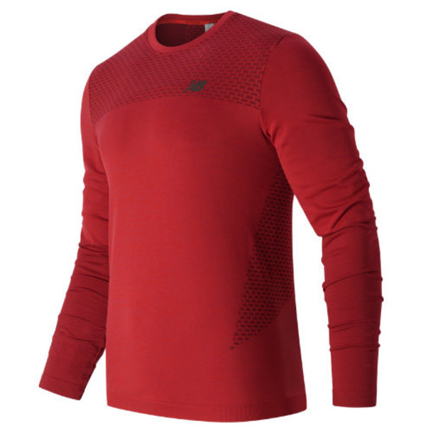 New Balance 63016 Men's M4M Seamless LS Top - Red (MT63016ACC)