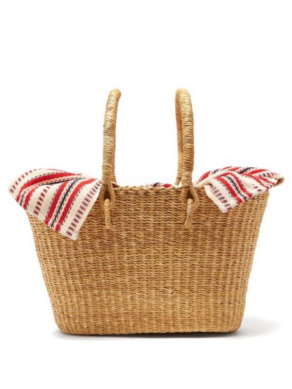Muuñ Muuñ - Claudia Mini Straw Basket Bag - Womens - Red Multi