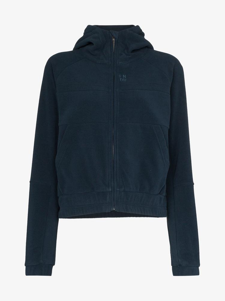 Lndr Ember Zipped Fleece Hoodie in blue
