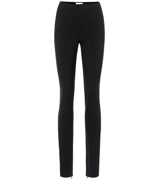 The Row Corso stretch wool-blend pants in black