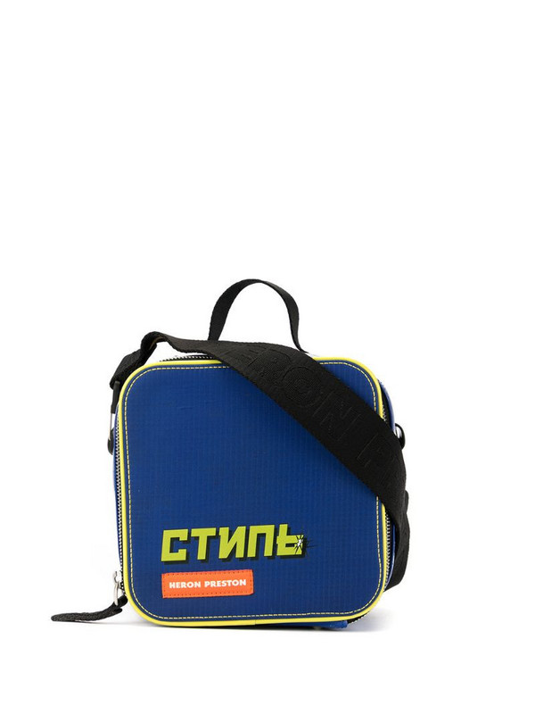 Heron Preston quilted crossbody bag in blue
