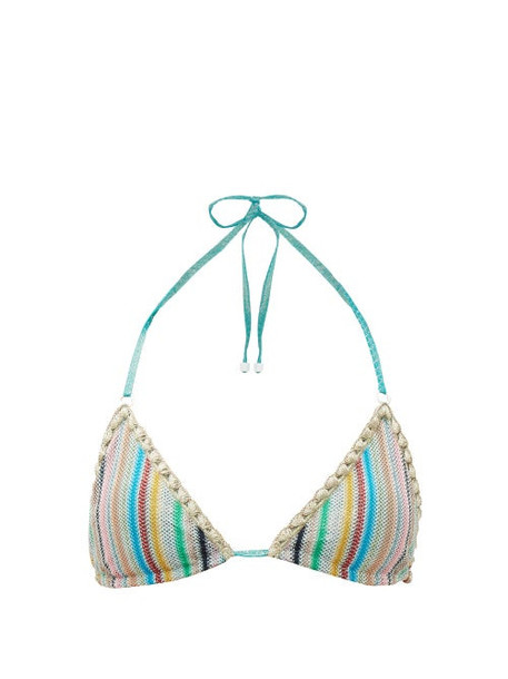 Missoni Mare - Stripe Knitted Halterneck Bikini Top - Womens - Multi