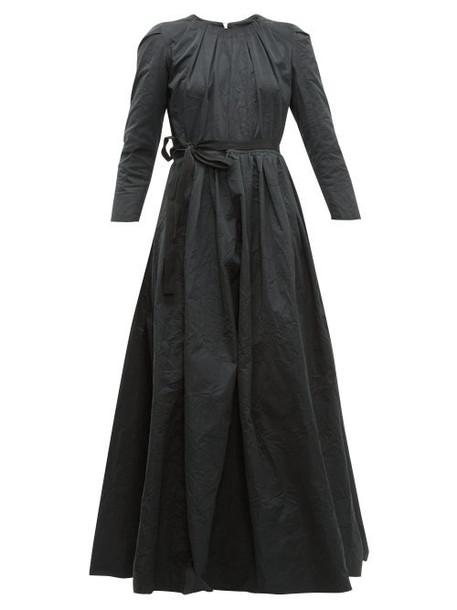 Brock Collection - Pia Tie Waist Taffeta Dress - Womens - Black