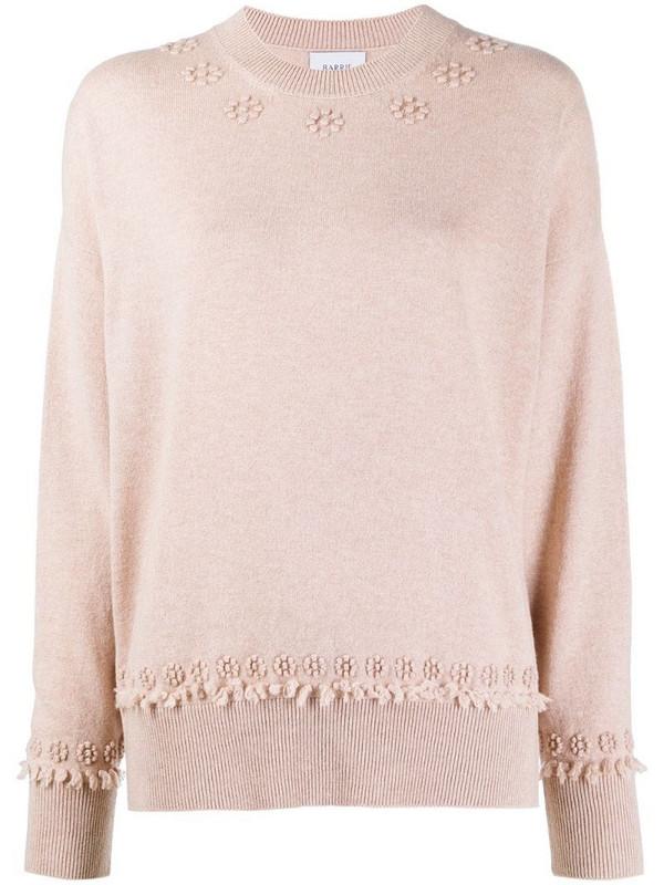 Barrie round-neck cashmere jumper in pink