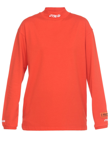 HERON PRESTON Fitted T Shirt in coral / red