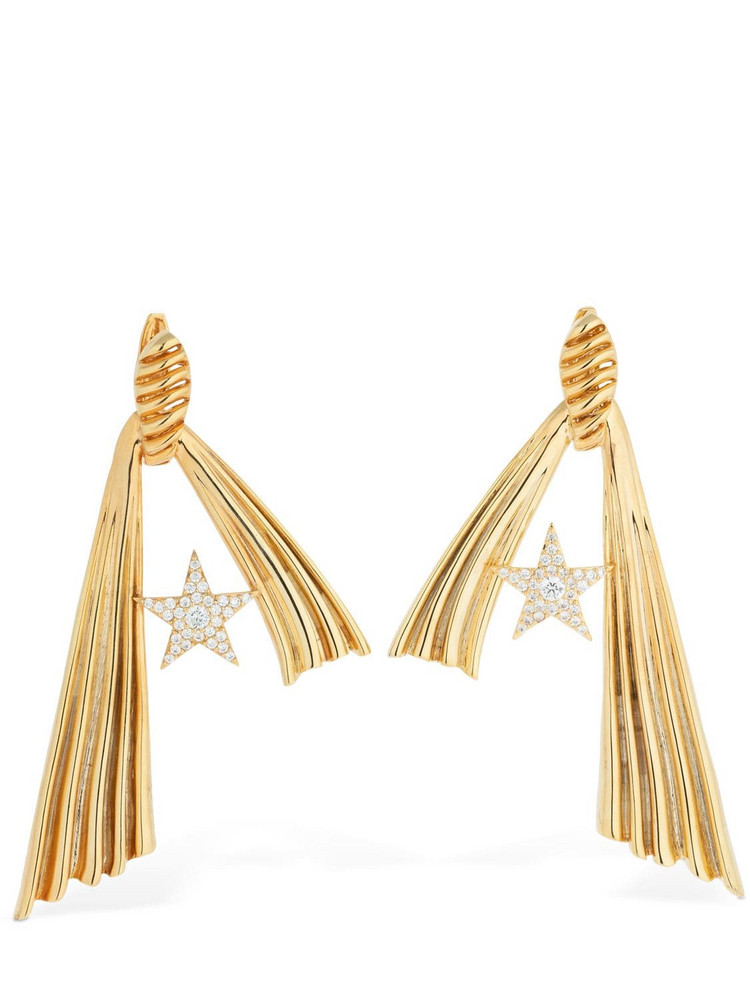ATTICO Amore Star Crystal Earrings in gold