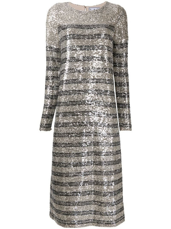 In The Mood For Love Bettina sequined cocktail dress in silver
