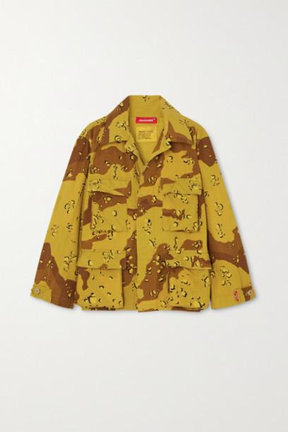 Denimist - Surplus Camouflage-print Cotton-blend Canvas Jacket - Green