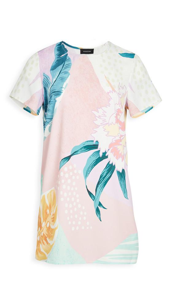MINKPINK Abstract Foliage Tee Dress in multi