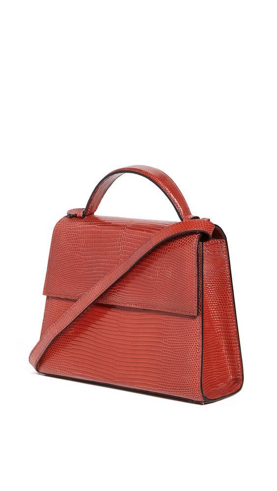 Hunting Season Medium Top Handle Bag in brick / red