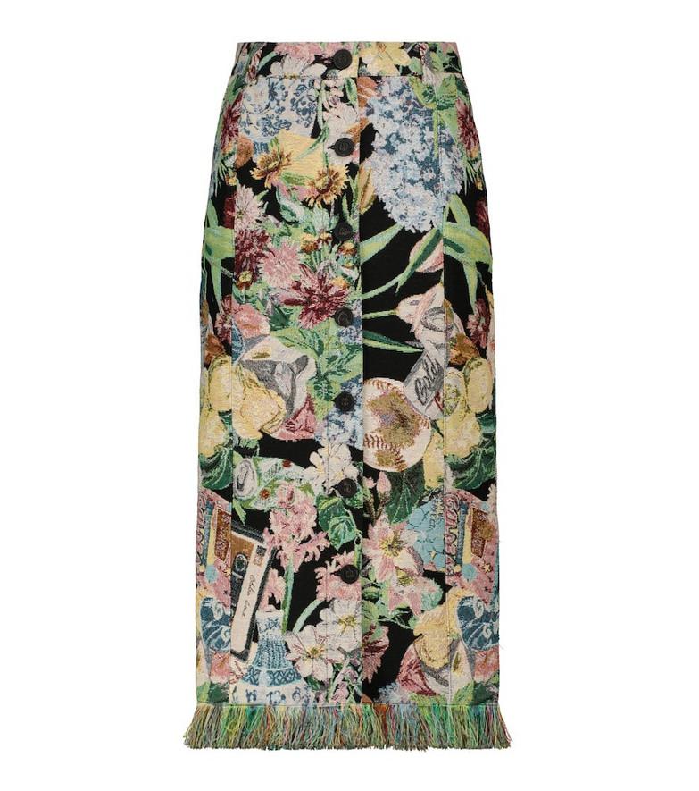Golden Goose Christine floral jacquard midi skirt
