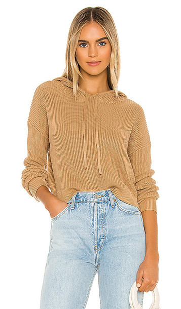 Lovers + Friends Lovers + Friends Griffith Knit Hoodie in Tan
