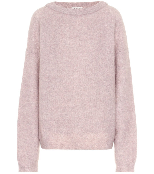 Acne Studios Wool and mohair sweater in pink