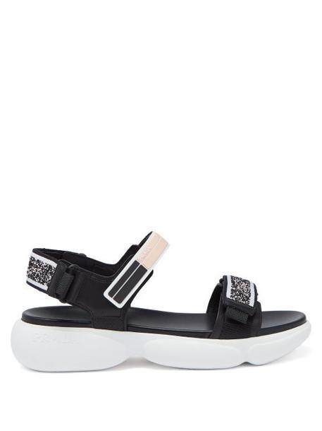 Prada - Cloudbust Technical Knit Sandals - Womens - Black Pink