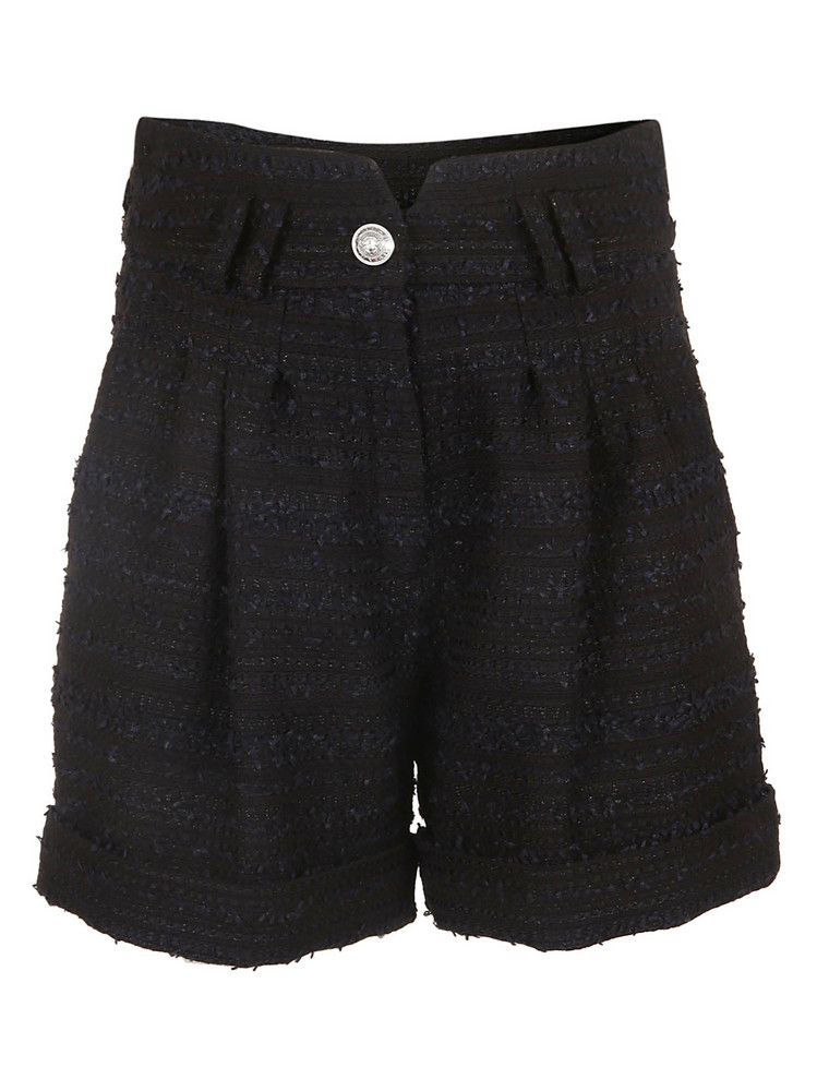 Balmain Tweed Shorts in noir