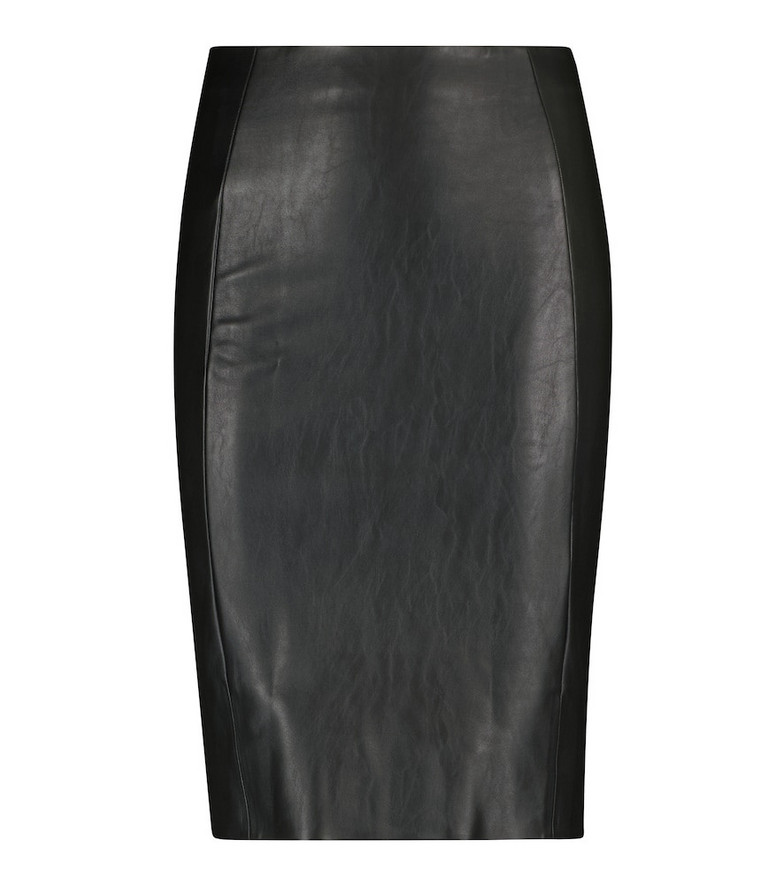 Wolford Jenna faux leather midi skirt in black