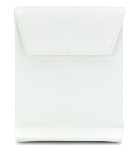 Balenciaga Shopping Envelope leather clutch in white