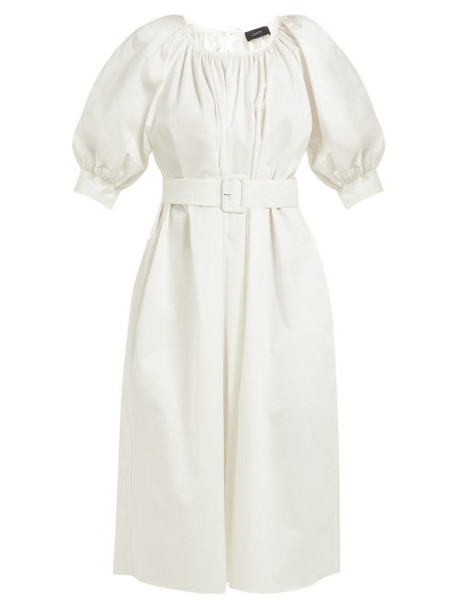 Joseph - Shan Cotton Blend Tunic Dress - Womens - White