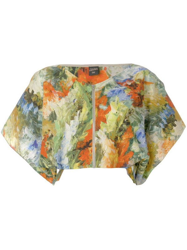 Jean Paul Gaultier Pre-Owned abstract print cropped blouse